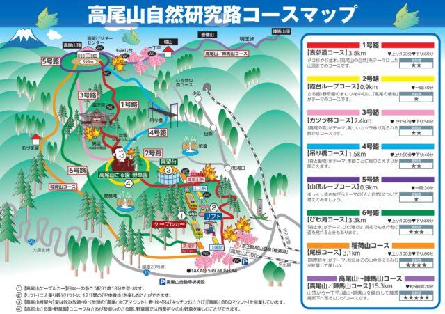 高尾山登山地図
