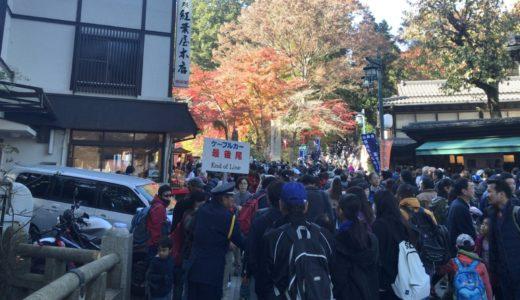 高尾山紅葉2019の混雑状況(平日・休日)やアクセス方法と渋滞情報まとめ!