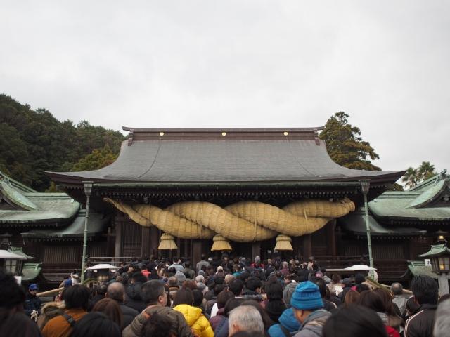 宮地嶽神社初詣混雑