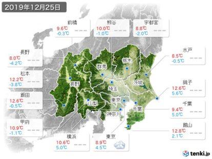 12月25日 関東天気