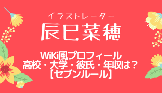 辰巳菜穂のプロフィールと経歴や高校大学・彼氏・年収を調査『セブンルール』