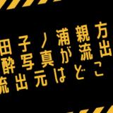 田子ノ浦親方がの泥酔写真が流出!