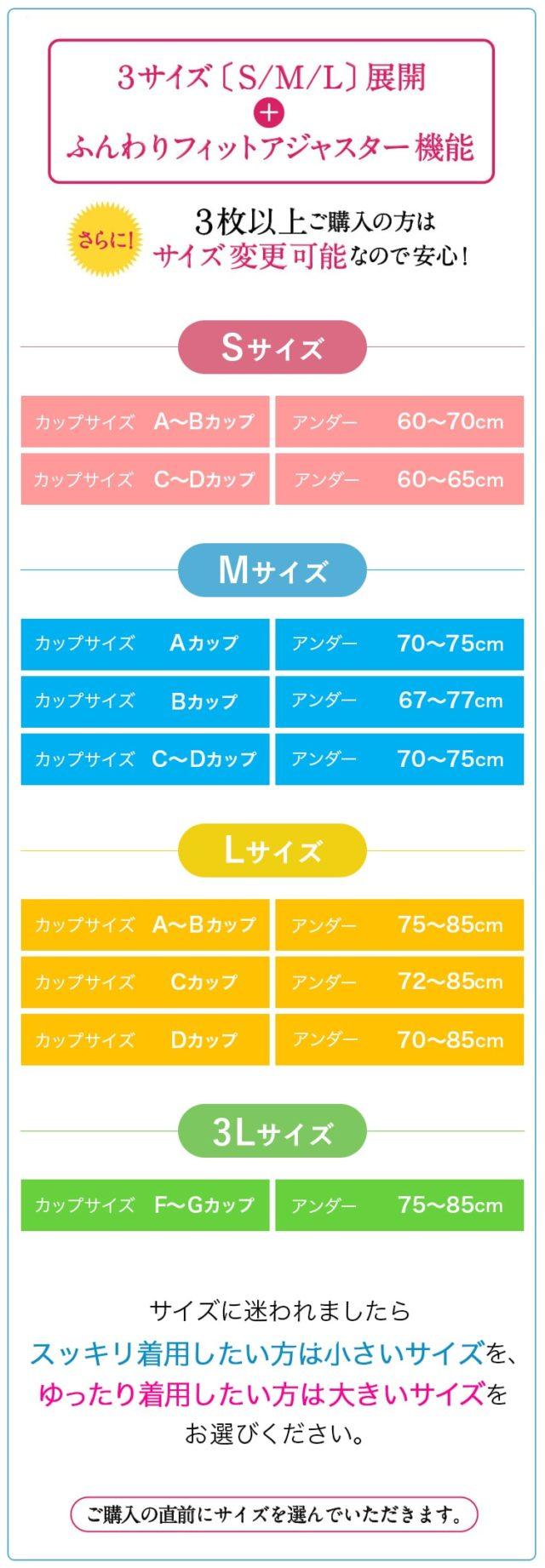 ブラグランデサイズ表