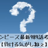 ワンピース最新989話考察 【負ける気がしねぇ】