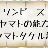 ワンピース ヤマト能力ヤマトタケル説