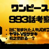 ワンピース993話考察