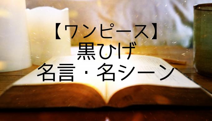 ワンピース黒ひげ名言名シーン