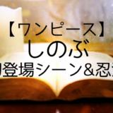 【ワンピース】しのぶ初登場シーン