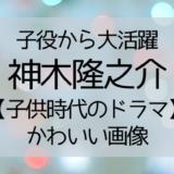 神木隆之介子役時代のドラマ画像