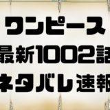 ワンピース1002話最新ネタバレ考察 ONE PIECE