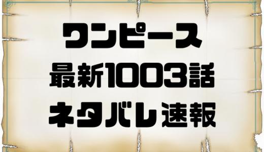 ワンピース1003話確定ネタバレの考察と感想!絶対絶命ルフィの覇気切れ!!カイドウの本気!