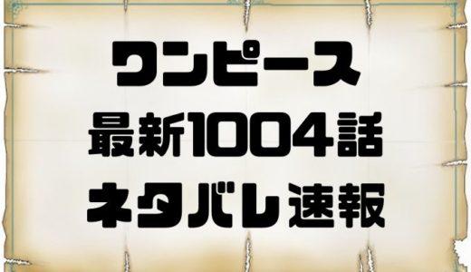 ワンピース1004話確定ネタバレの考察と感想!ブラックマリア急襲!?急げ赤鞘救出!