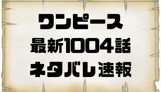 1004 ワンピース