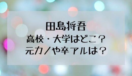 田島将吾の高校はどこ?卒アルや彼女の情報を調査!
