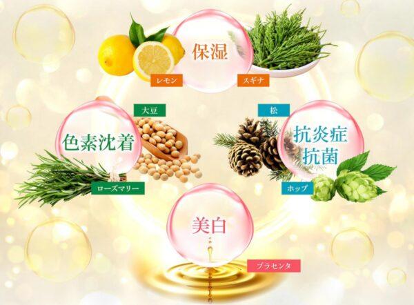 ケトリーム7種類の美容成分